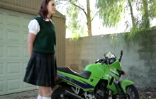 Slutty school girl gets fucked by neighbor