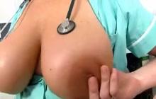 Nurse giving a handjob in the sperm hospital