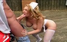 Kiki Daire Big Tit Nurse Fucked Outdoor