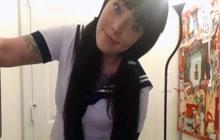 Schoolgirl works her sweet pussy