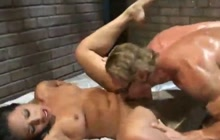 Hot Latina prisoner fucked by a guard