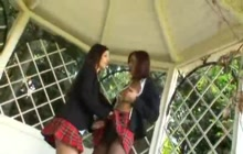Lesbian action in school uniform